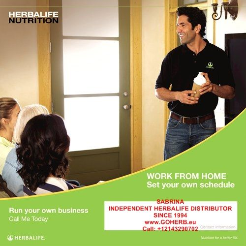 FIRE YOUR BOSS! OWN YOUR LIFE in 2015! HERBALIFE= NUTRITION FOR A BETTER LIFE! HERBALIFE= THE BEST OPPORTUNITY FOR A BETTER FUTURE! Sign up as a HERBALIFE MEMBER TODAY! SABRINA INDEPENDENT HERBALIFE DISTRIBUTOR SINCE 1994 Helping you enjoy a healthy, active and successful life! Empowering You To Change https://www.goherbalife.com/goherb/ Call USA: +12143290702 Italia: +393462452282 Facebook: http://sasafb.fitmy.biz