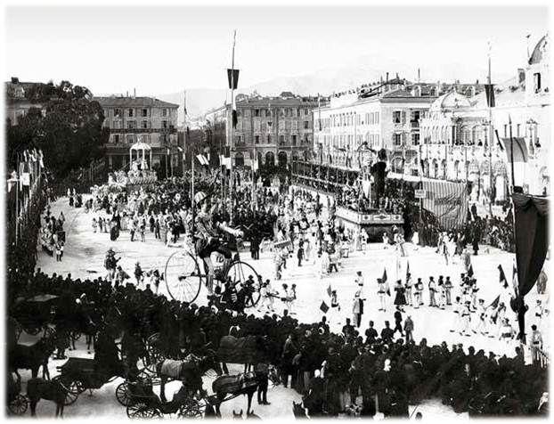 Le carnaval de Nice sur la place Masséna - 1890