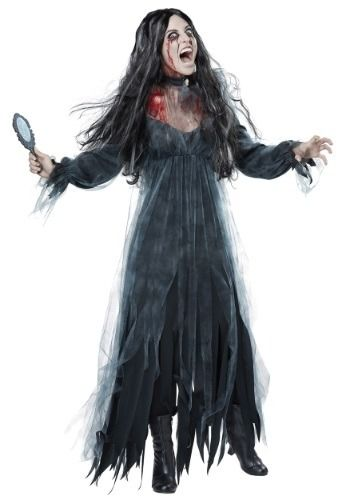 bring the scary childhood ghost story to life in this adult womenu0027s bloody mary costume