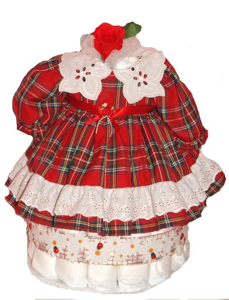 Tort cu rochita www.venellagift.ro