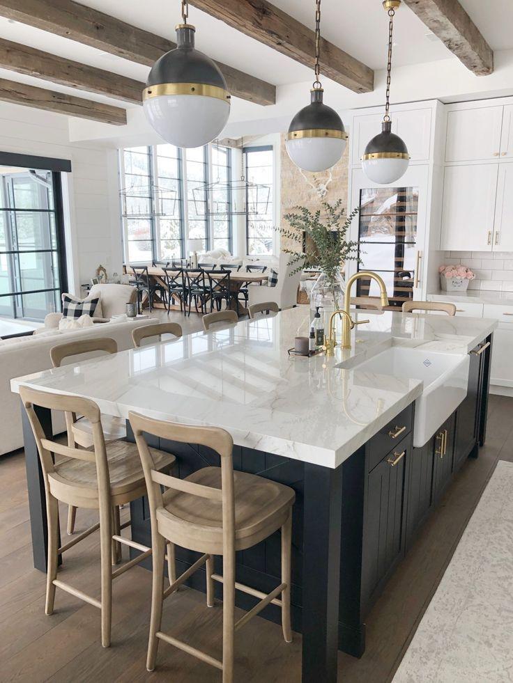 Amazing Diy Kitchen Island Ideas Modern Farmhouse Kitchens Farmhouse Kitchen Design Farmhouse Style Kitchen