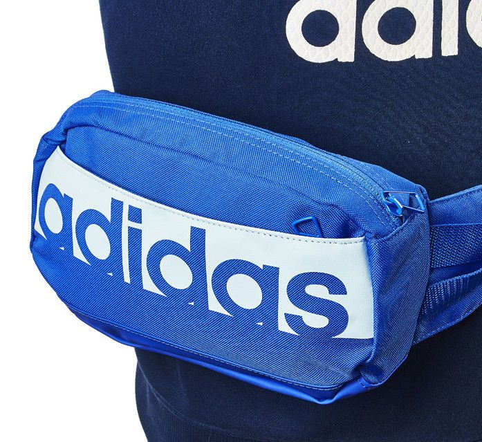 adidas 2018 Linear Performance Waist Pack Fanny Bag Sack Belt Sports Blue  CF5012  adidas  FannyWaistPack 51e86ded85a17