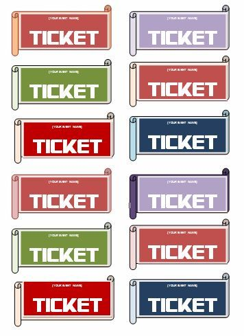 word templates for tickets
