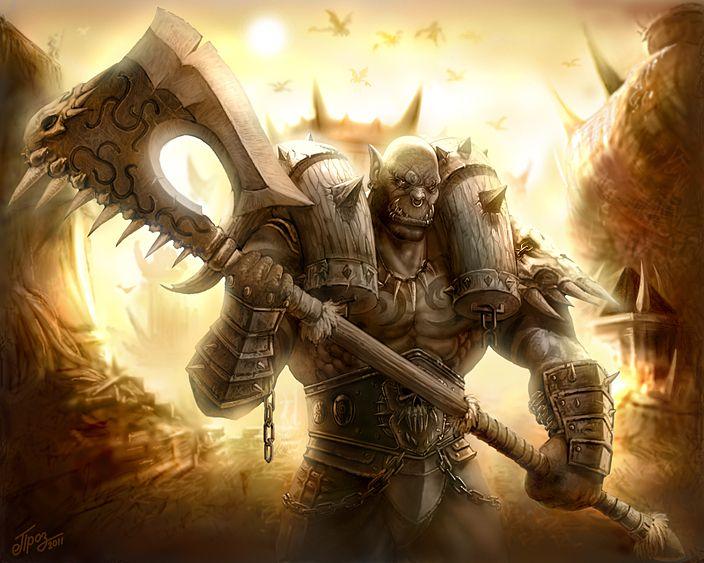 """Warcraft OrcWarlord """"Garosh Hellscream"""" Blizzard"""