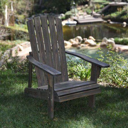 Lakewood Rustic Adirondack Chair - Barnwood, Brown