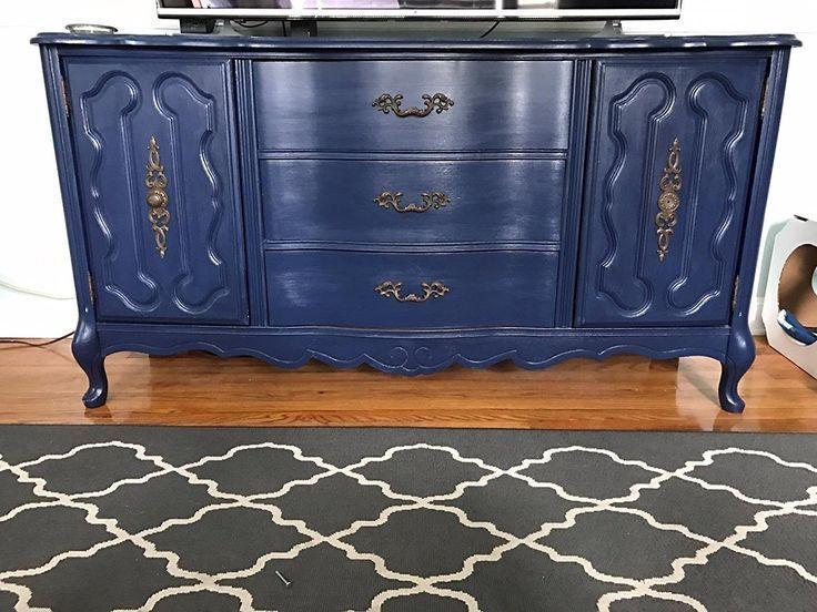 Navy Blue Dresser Renaissance Chalk Furniture Paint Qt Non Toxic Superior Cove Chalk Paint Furniture Painted French Provincial Furniture Painted Furniture
