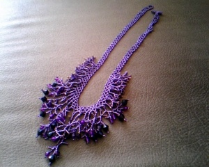 seed beads necklace made by me