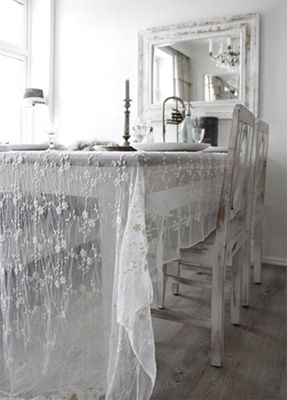 Jeanne Du0027 Arc Living Tablecloth, Sheer Fabric, French Charmed