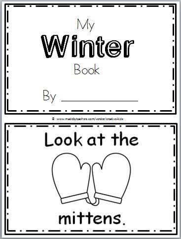 Winter Mini Book For Kindergarten
