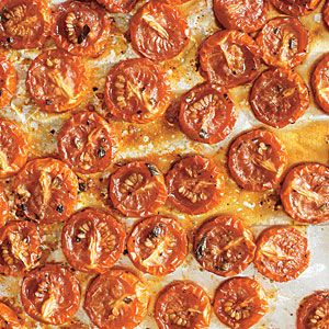 Slow-Roasted Grape Tomatoes | MyRecipes.com, this is using cooking spray instead more olive oil.  I may try but like how I do mine, drizzling with olive oil and spices.