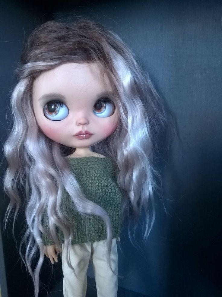 BLYTHE doll Custom /Blythe doll/ weft mohair/ piercing