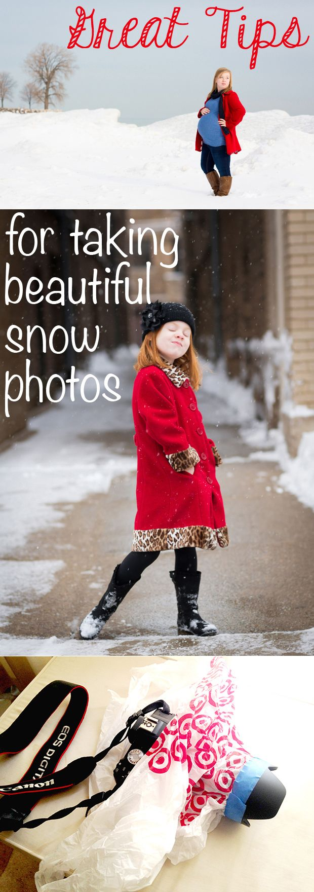 Set your exposure manually so you can make the snow look the way it should - bright and white. More tips for great winter pics: http://www.ehow.com/ehow-tech/blog/tips-for-taking-portraits-in-the-snow/?utm_source=pinterest&utm_medium=fanpage&utm_content=blog