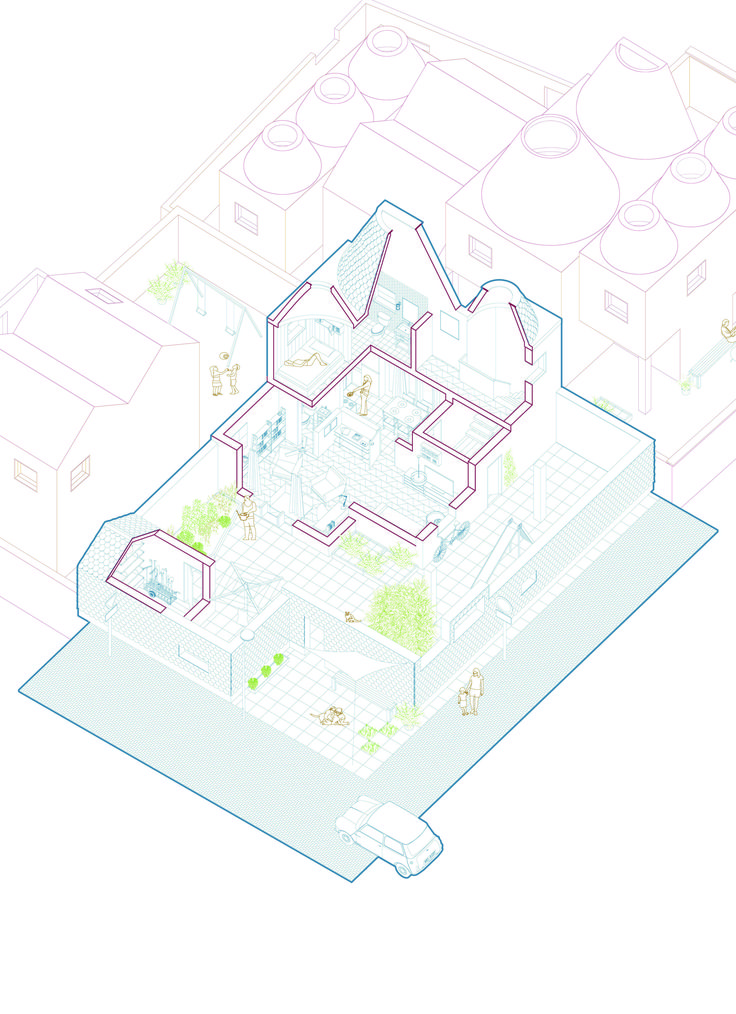 how to draw axonometric from plan