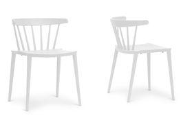 Baxton Studio Finchum White Plastic Stackable Modern Dining Chair (Set of 2) Baxton Studio Finchum White Plastic Stackable Modern Dining Chair, wholesale furniture, restaurant furniture, hotel furniture, commercial furniture