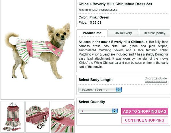 make clothes for dogs | cheap dog clothes sale! buy chloe's beverly hills chihuahua dress ...