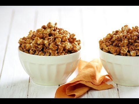 Cómo hacer palomitas con caramelo y cacahuate - YouTube