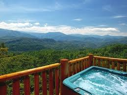 Hot tub in Gatlinburg, TN.