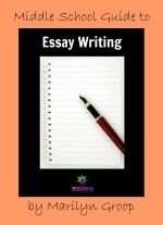 """Middle School Guide to Essay Writing and other PDF helps published by """"sister helps""""."""