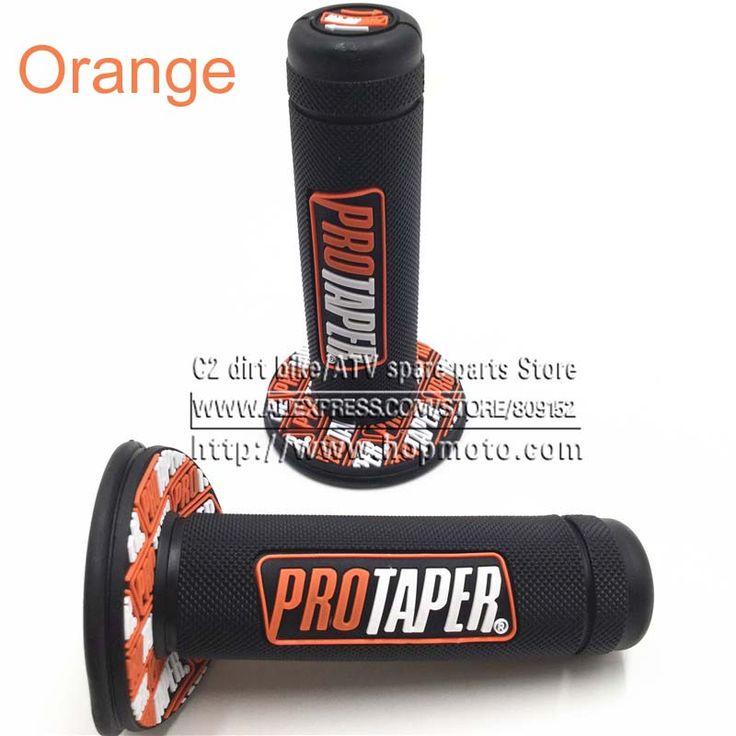 "NEW Orange Handle Grip Pro taper Motorcycle High Quality Protaper Dirt Pit Bike Motocross 7/8"" Handlebar Hand Grips KTM"