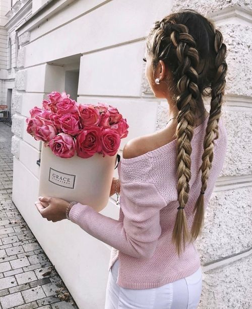 Long hair braids on Instagram . Curated by https://www.instagram.com/thedailyfashioninspiration/