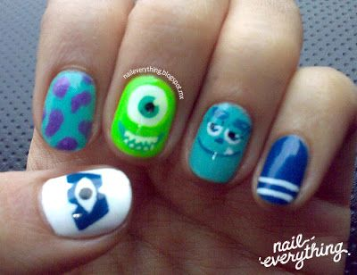MONSTERS UNIVERSITY NAIL ART | Uñas Monsters University