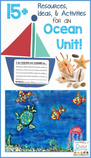 One Stop Teacher Shop - Teaching Resources for Upper Elementary: 15 Fun and Creative Activities for an Ocean Unit