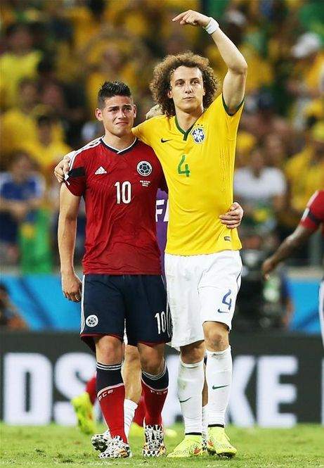 James Rodriquez & David Luiz
