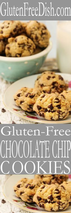 Gluten free chocolate chip cookies recipe is easy to make with gluten free flour and almond flour. Enjoy sweet treats on a gluten free diet.