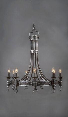 Castillian Vintage Wrought Iron Chandelier - 9 Light