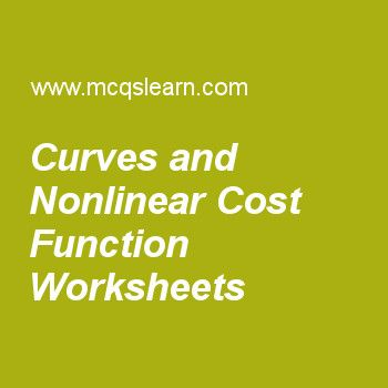 Curves and Nonlinear Cost Function Worksheets