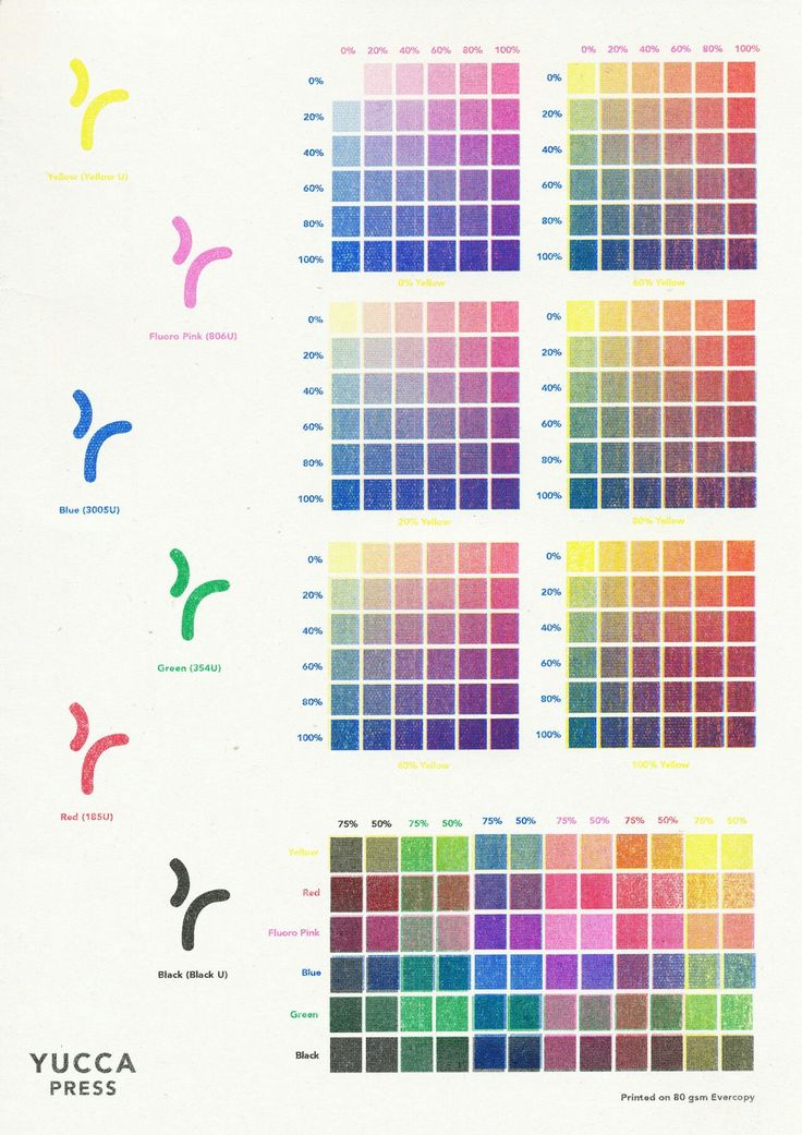 Best Risograph Color Charts Images On   Graphics