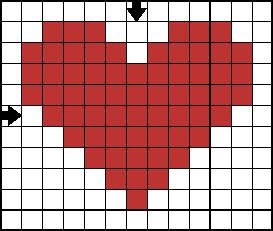 mini cross stitch heart - nice and simple