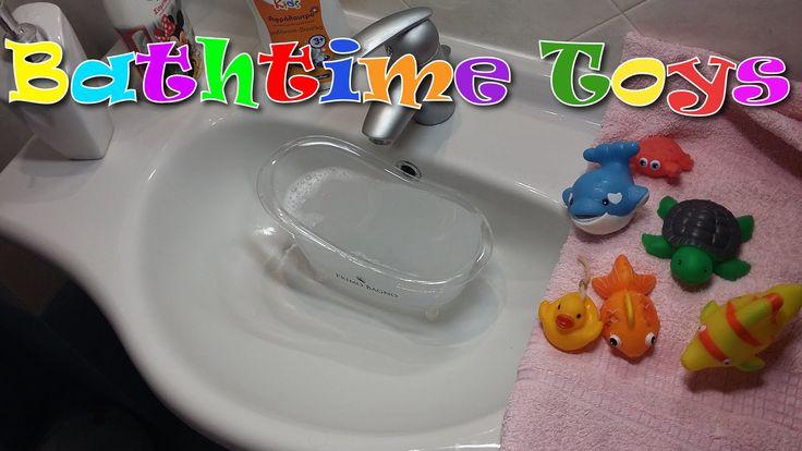 Bathtime Toys!!! Sea animals!!