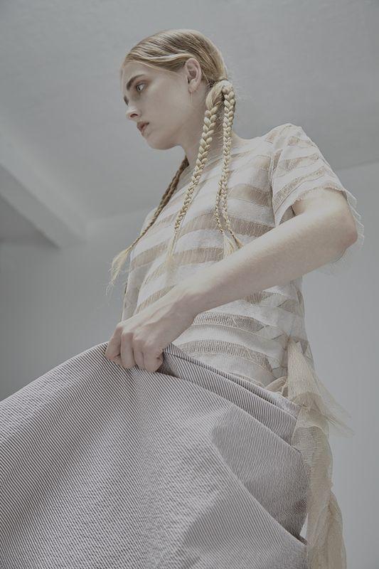 Final MA Collection in #NASTY Magazine Designer : #MinHsuanWeng Photographer: #EstherBellepoque MUA : Izzy Cammareri Model : #AnnaKeen