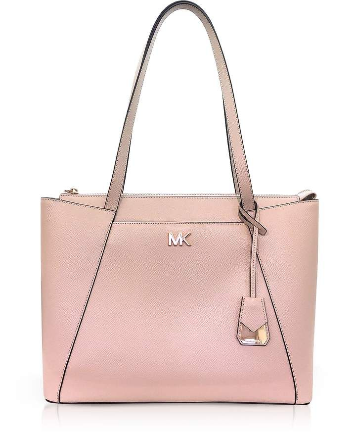 4c984bca5289 Michael Kors Soft Pink Maddie Medium Crossgrain Leather Tote #style  #fashion #shopping #deals #purses