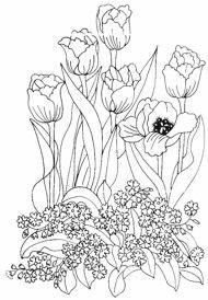 ::ARTESANATO VIRTUAL - Tecnicas de Artesanato   Dicas para Artesanato   Passo a Passo::: 10Th Watercolour Humour Mixed, Patterns Drawings, Embroidery Patterns, Coloring Pages Embroidery, The Handmade, Clip Art Printables, Painting Patterns Printables, Embroidery Tulips