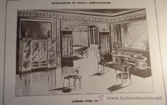MOBILIARIOS DE ESTILO - ALFREDO PASCUAL - VALENCIA - CATALOGO MUEBLES - 1940-50 - 30 LAMINAS -