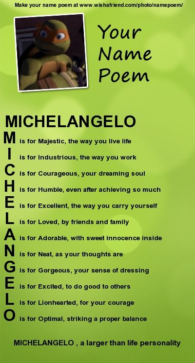 Mikey poem by Donnatellofan1.deviantart.com on @DeviantArt