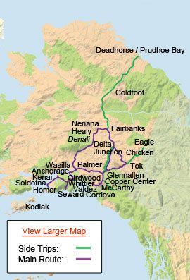 alaska highways map