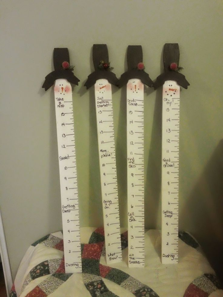 Snow gauges made from paint sticks!