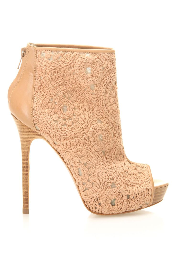 Almond Lace Booties