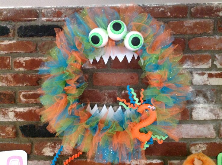 Monster wreath for monsters inc party