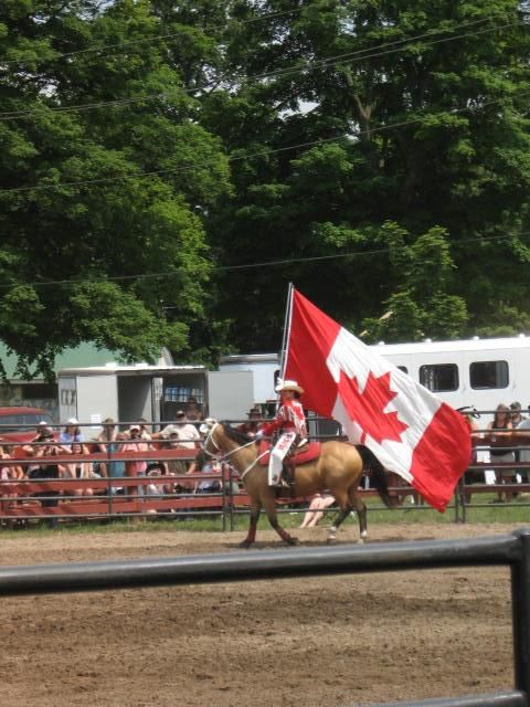 Canadian Flag carried by a member of the Canadian Cowgirls Precision Drill Team at Everything Equine 2012