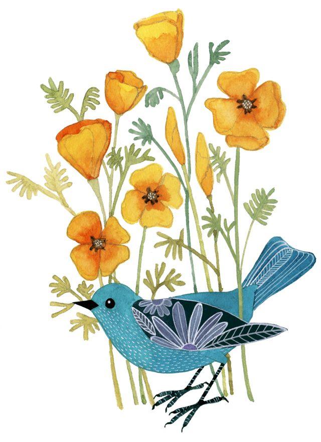 too cute!  flower as wing
