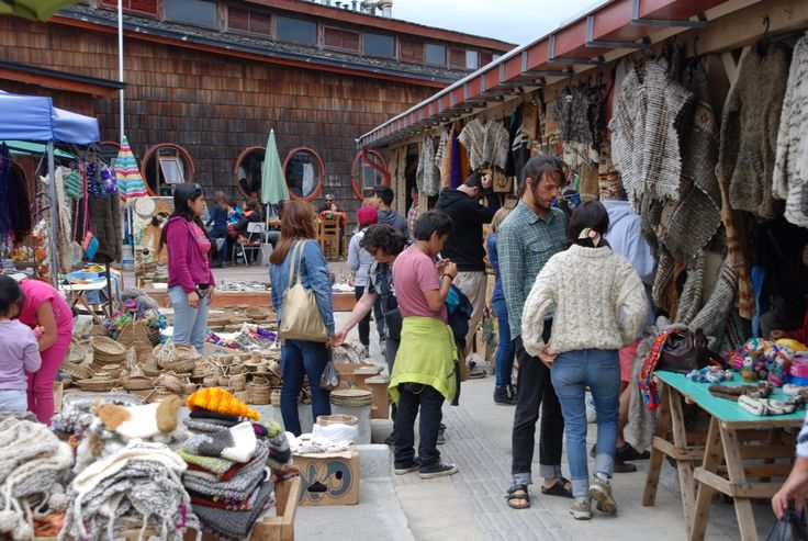 Feria de Dalcahue, isla de Chiloé, Chile
