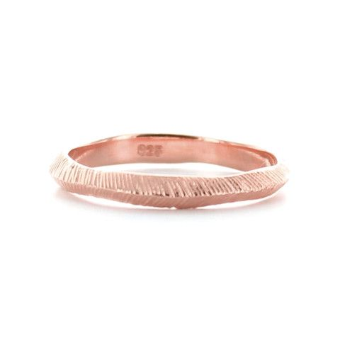 BRAVE STACKING RING & PENDANT ROSE GOLD – So Pretty Cara Cotter
