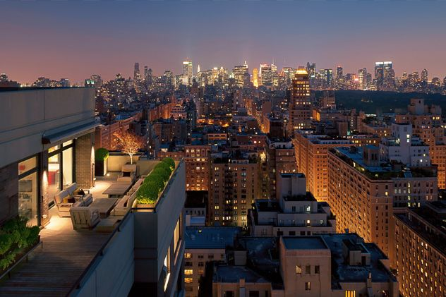 Madison Avenue Penthouse in Carnegie Hill nachts