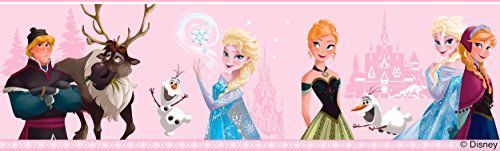 Disney Frozen Pink Wallpaper Border Anna Elsa Olaf Sven Kristoff FR35032 ** Learn more by visiting the image link.