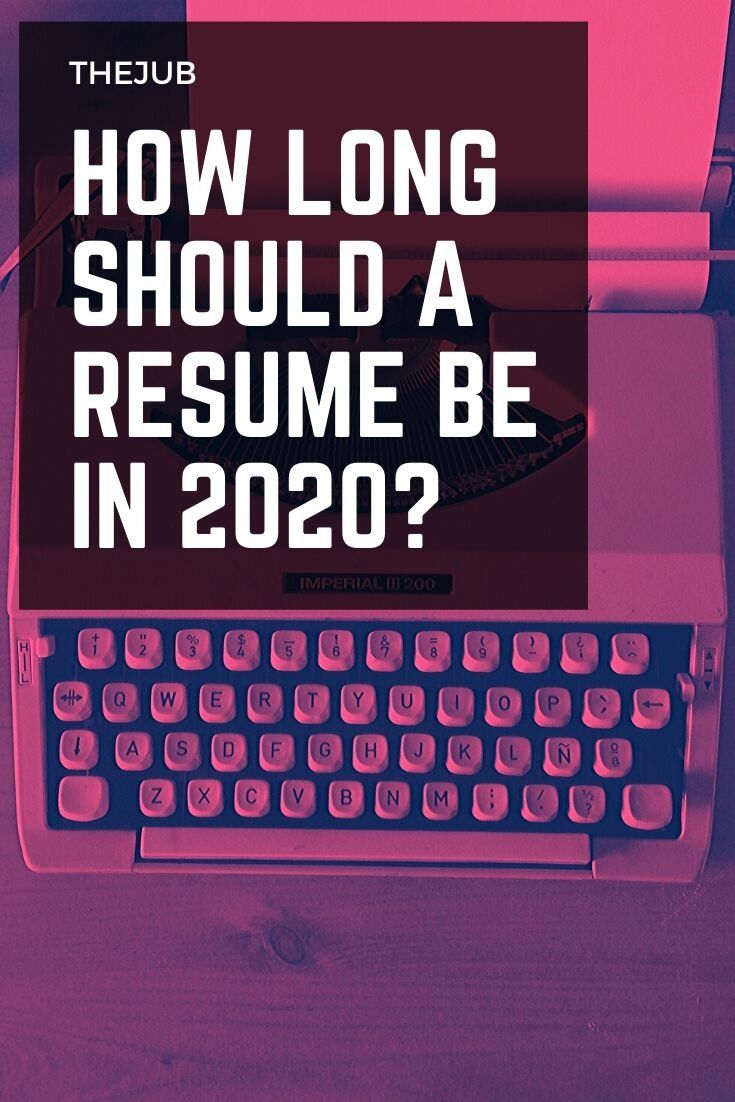 How Long Should A Resume Be in 2020? (Recruiter Advice) in