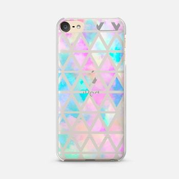 iPod Touch 6 Case New standard Pastel Aztec watercolor